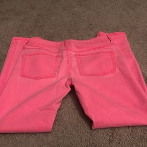 Hot pink jeans skinny size 5 women's